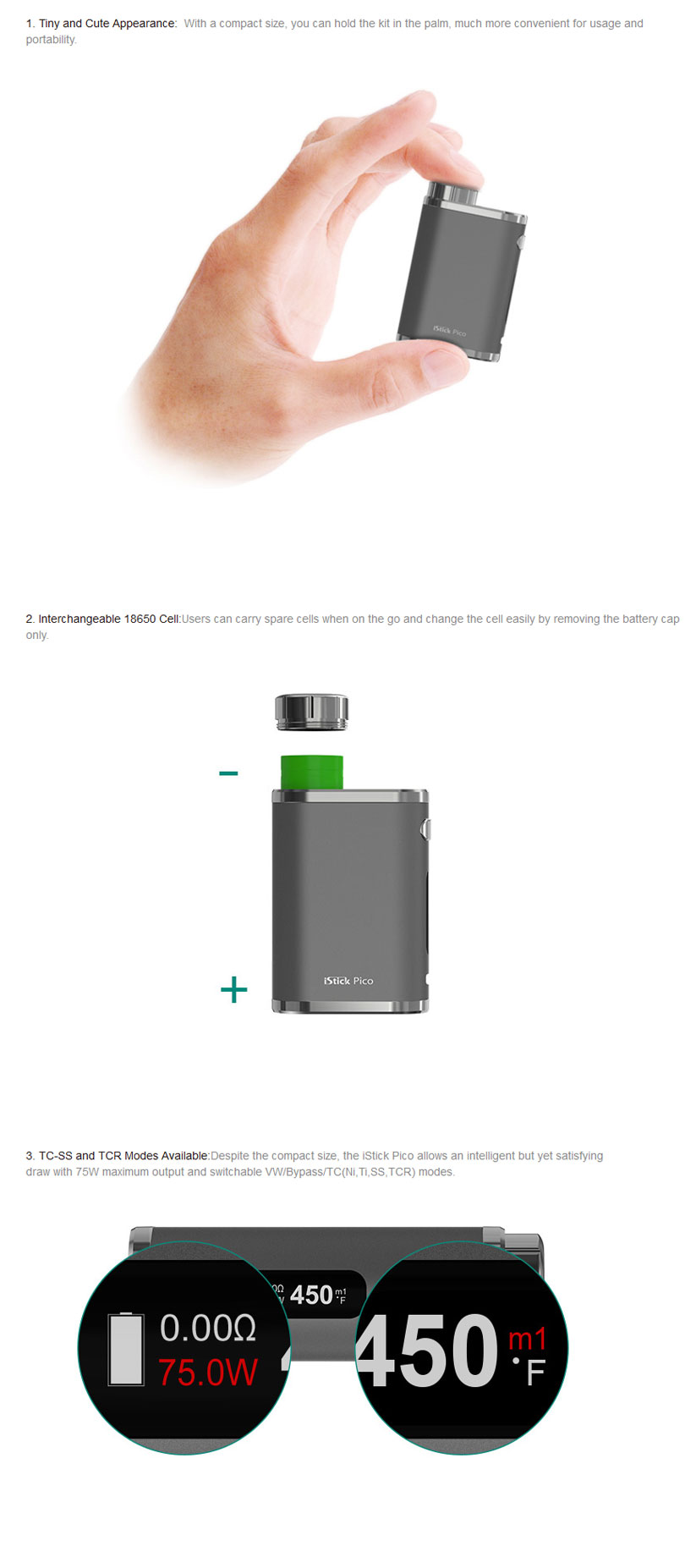 Eleaf iStick Pico Features