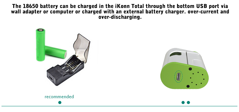 Charging for iKonn Total Battery