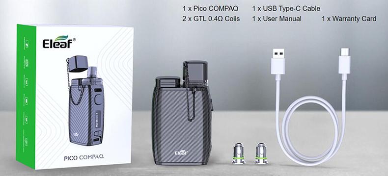 Eleaf Pico Compaq Kit Content