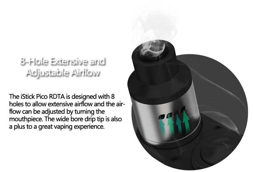 iStick Pico RDTA designed with 8 holes