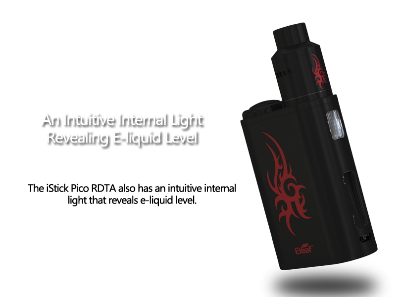 iStick Pico RDTA has an intuitive internal light