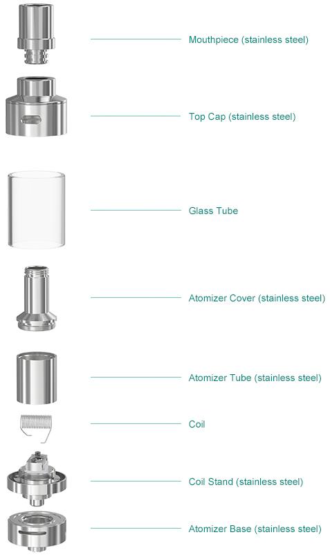 Lemo 2 Atomizer Standard configuration