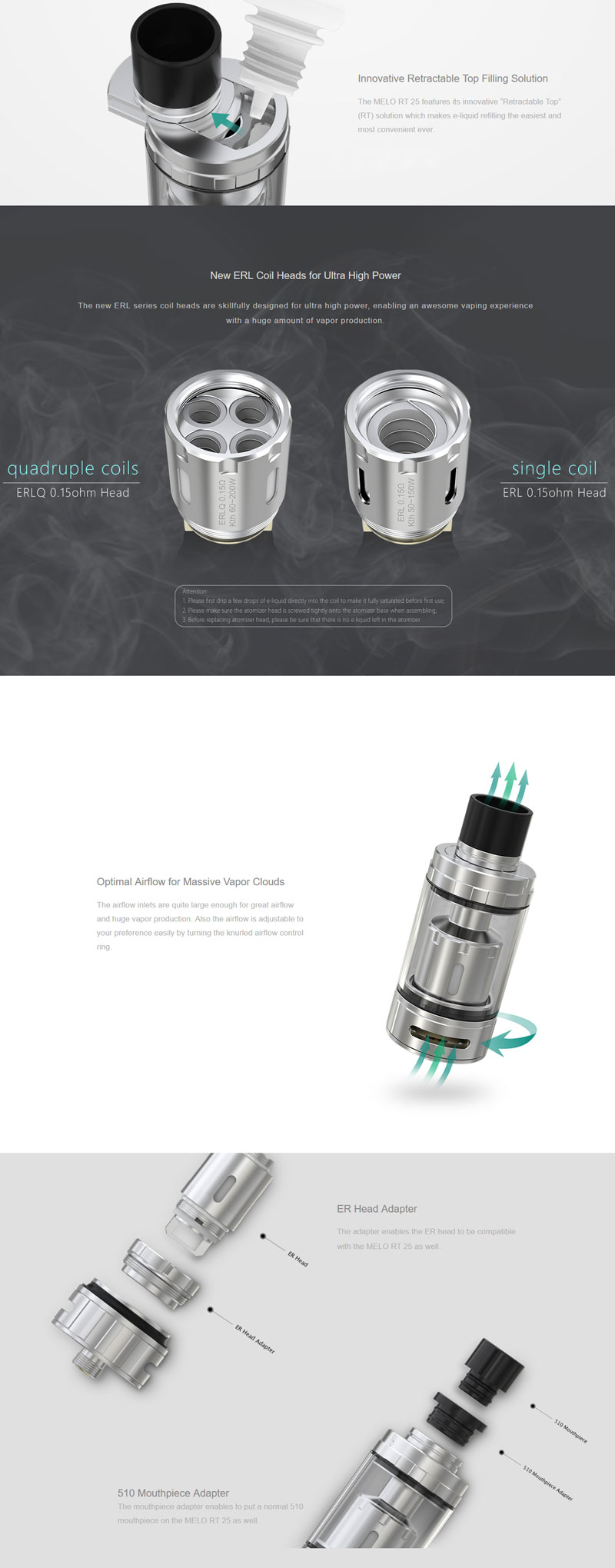 Eleaf Melo RT 25 Sub Ohm Tank_Features