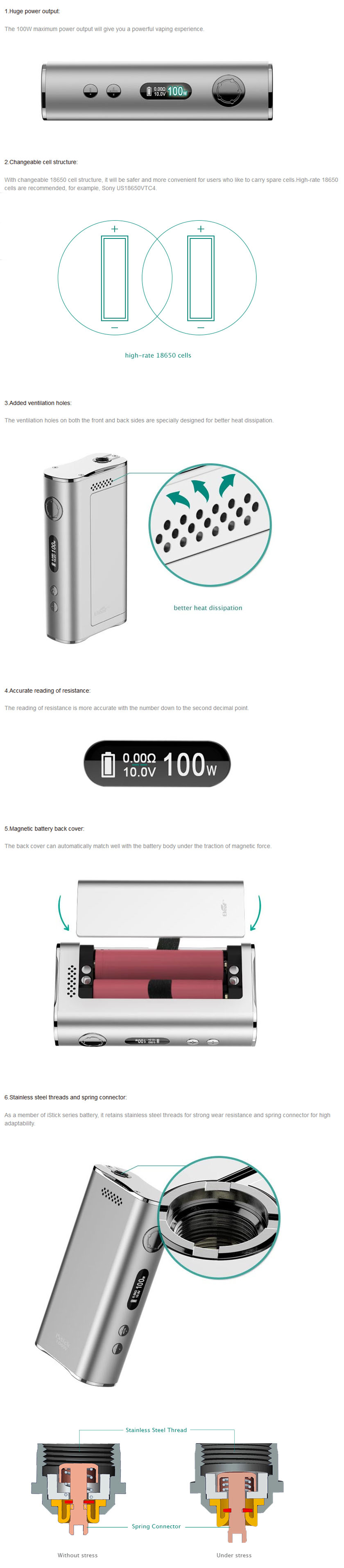 iStick 100W Features