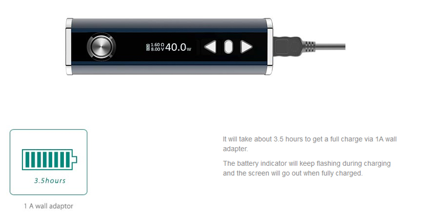 How to Charge iStick TC40W
