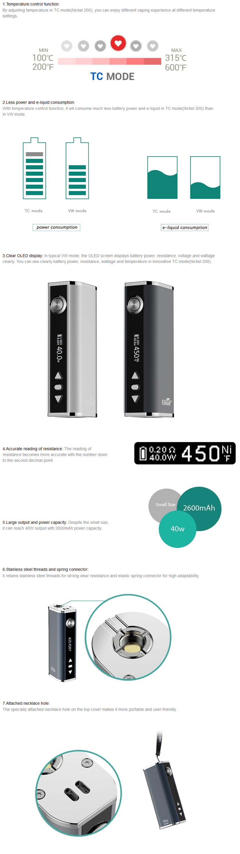 iStick TC40W Features