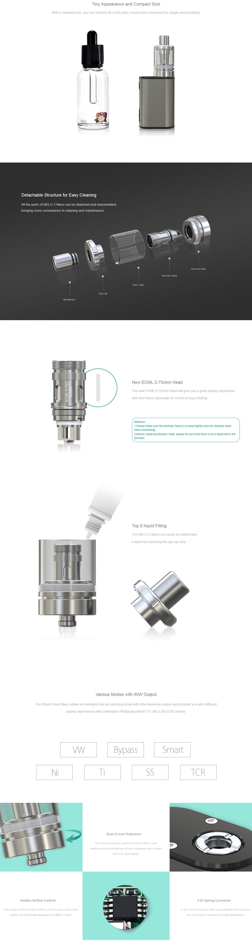 iStick Power Nano Kit  Features