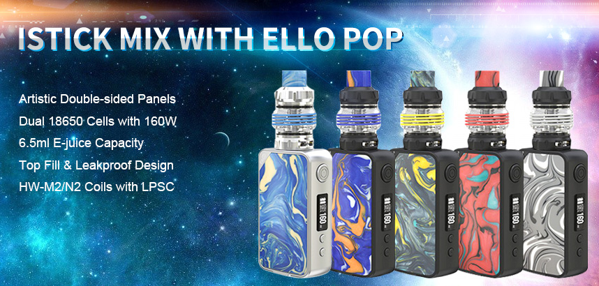 Eleaf iStick Mix Kit with ELLO POP Atomizer