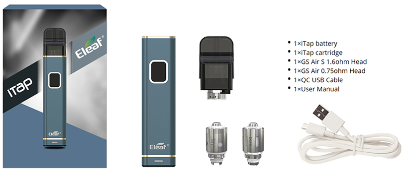 Eleaf iTap Pod System Kit Includes