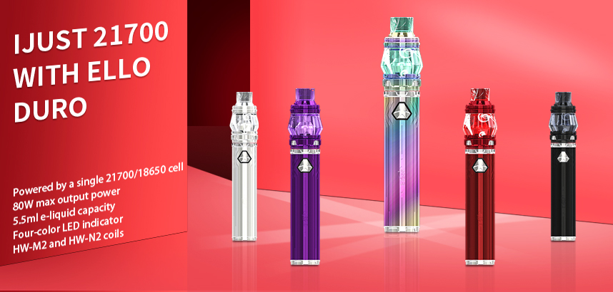 Eleaf iJust 21700 with ELLO Duro Kit
