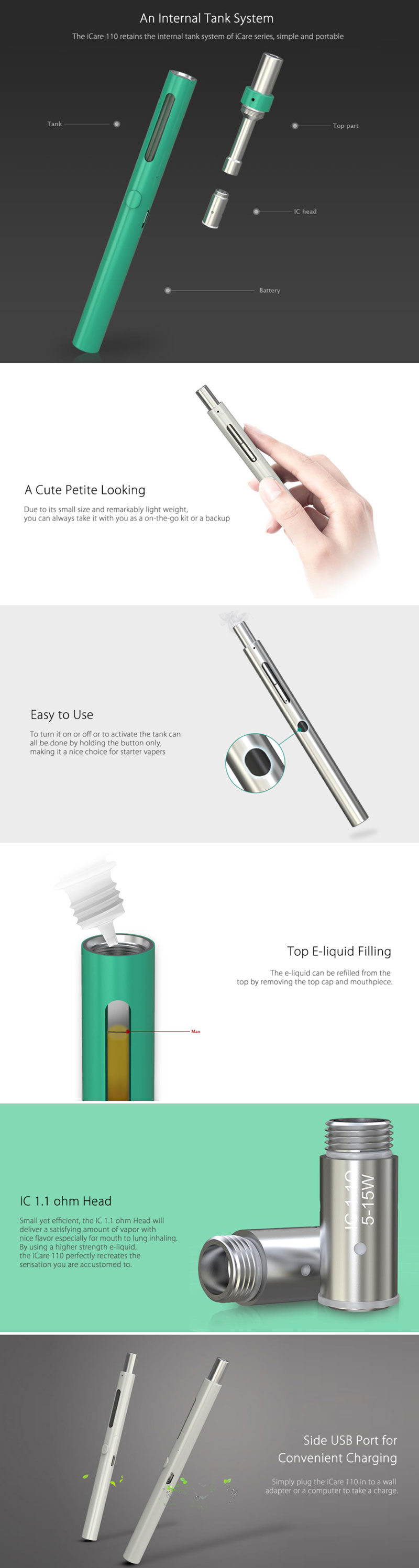 Eleaf iCare 110_Features